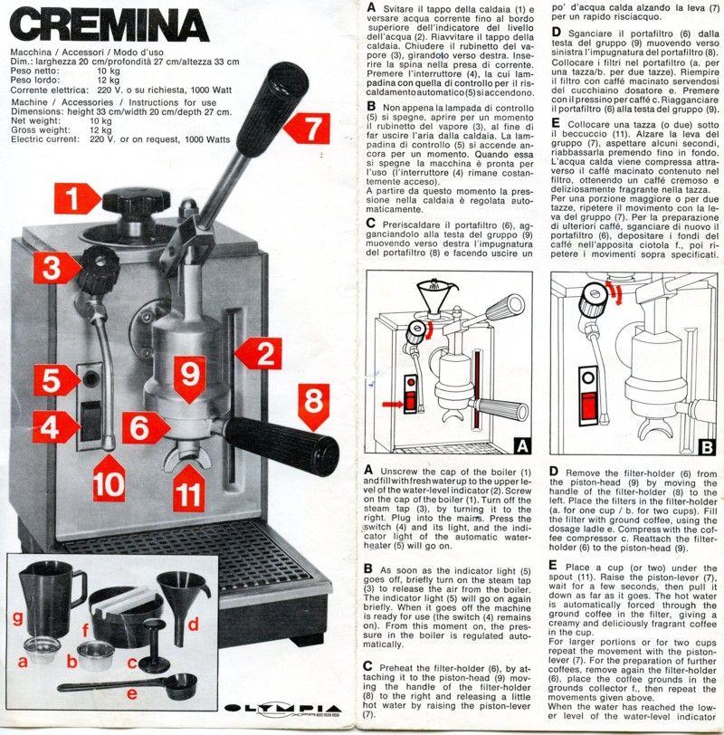 Olympia Express Cremina Manual Espresso Machine Best Espresso Machine Cofee Machine