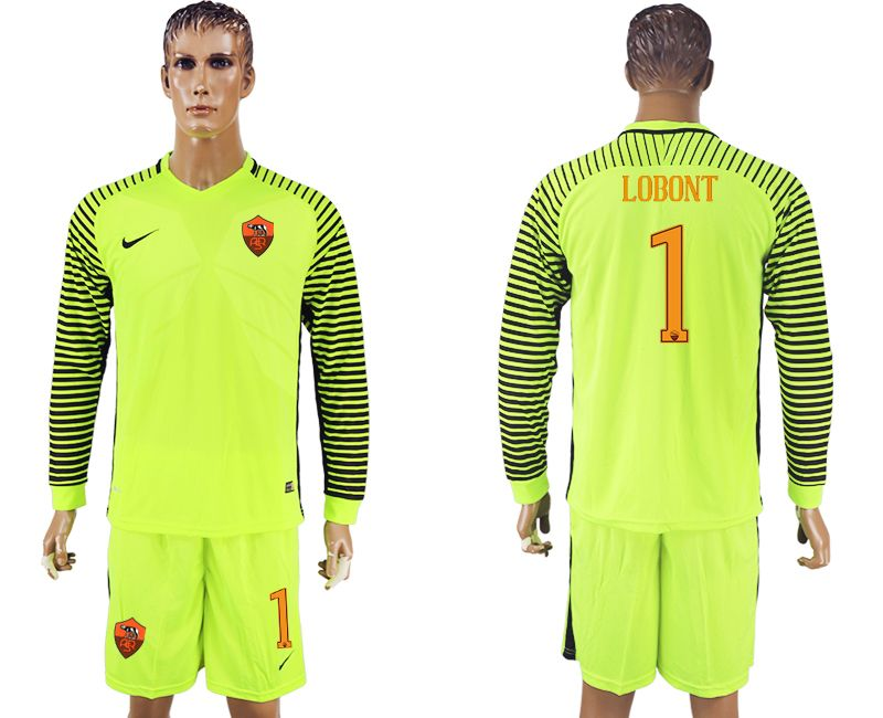 newest collection 589ee 42873 16-17 roma goalie long sleeve green soccer jersey goalkeeper ...