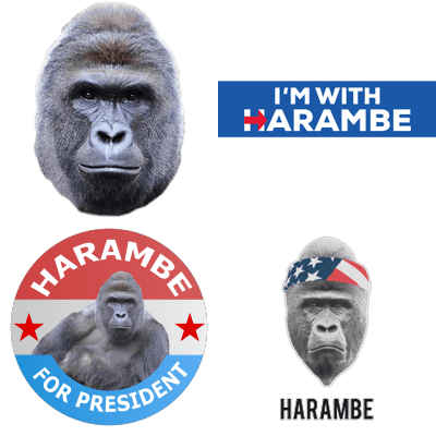 753d069f6bb34 Harambe | STICKPNG - free transparent PNG images | Memes, Clip art
