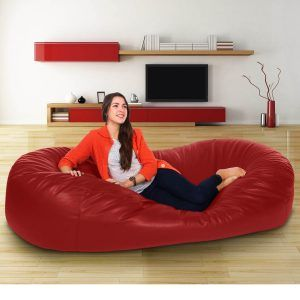 Real Leather Sofa Bed Bean Bag
