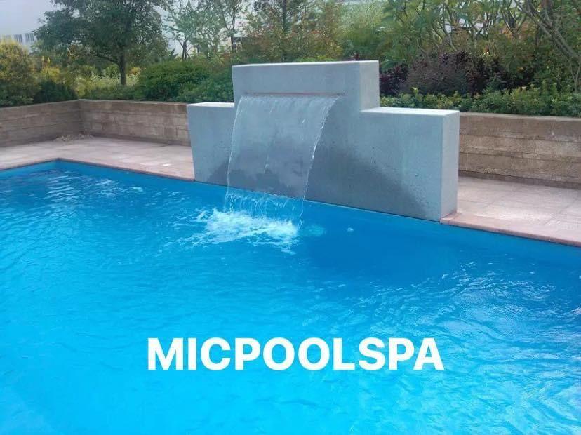 Photo of Swimming pool waterfall cascade piscina piscine from China
