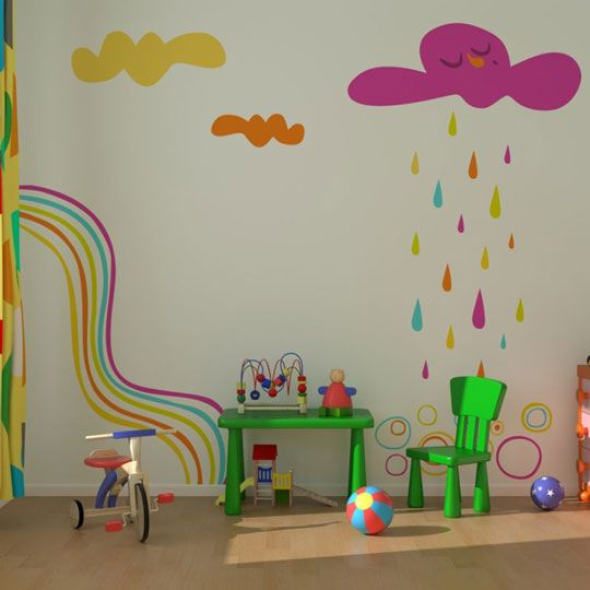 Paredes infantiles decoracion infantil y juvenil bebes for Stickers pared ninos