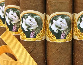 Items similar to Great Gatsby Wedding Cigar Bands - Custom Printed for you -  Cigar Labels for Wedding Party on Etsy