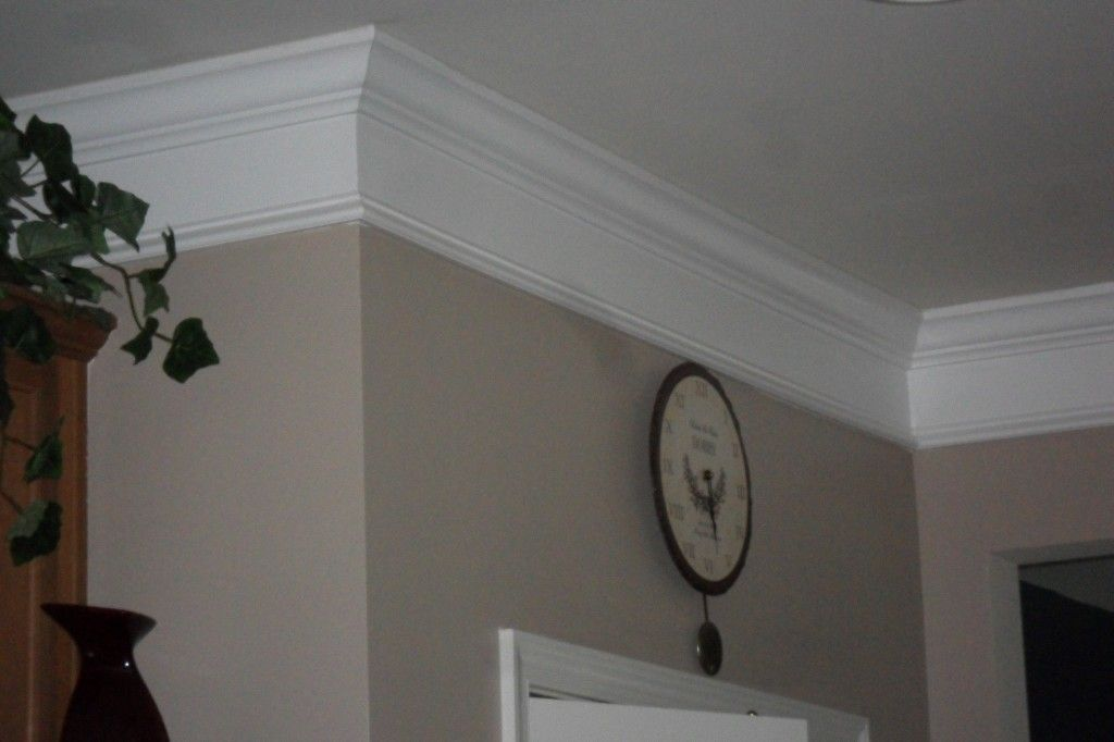 This Crown Molding Looks Thick, But Part Of It Is Actually