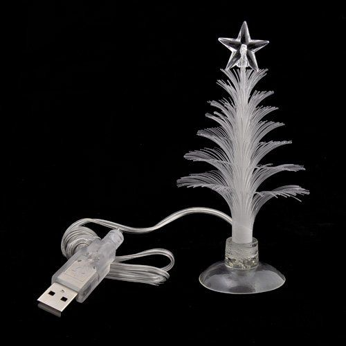 Elegant USB 7 Colors Fiber Optic Christmas Tree With Top Star   List Price: $11.90  Price