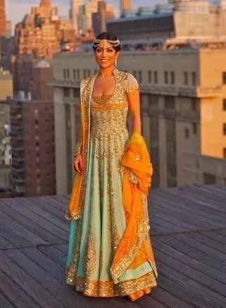 Indian Bridal Dress Pastel Colour