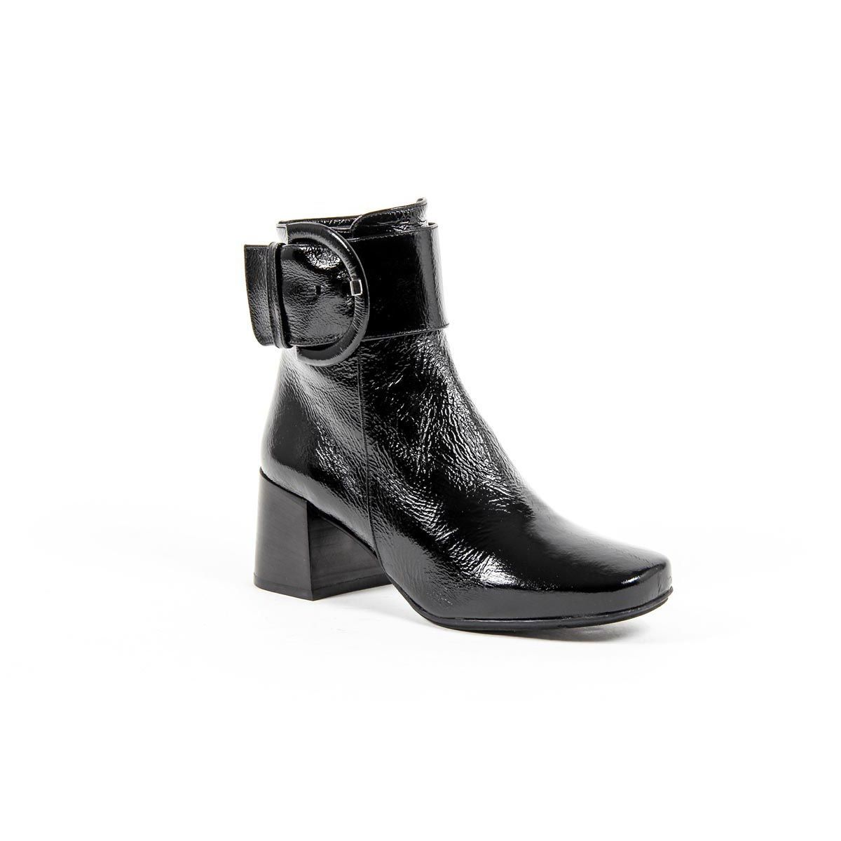 Versace 19.69 Abbigliamento Sportivo Srl Milano Italia Womens Heeled Ankle Boot B2484 FINISH NERO