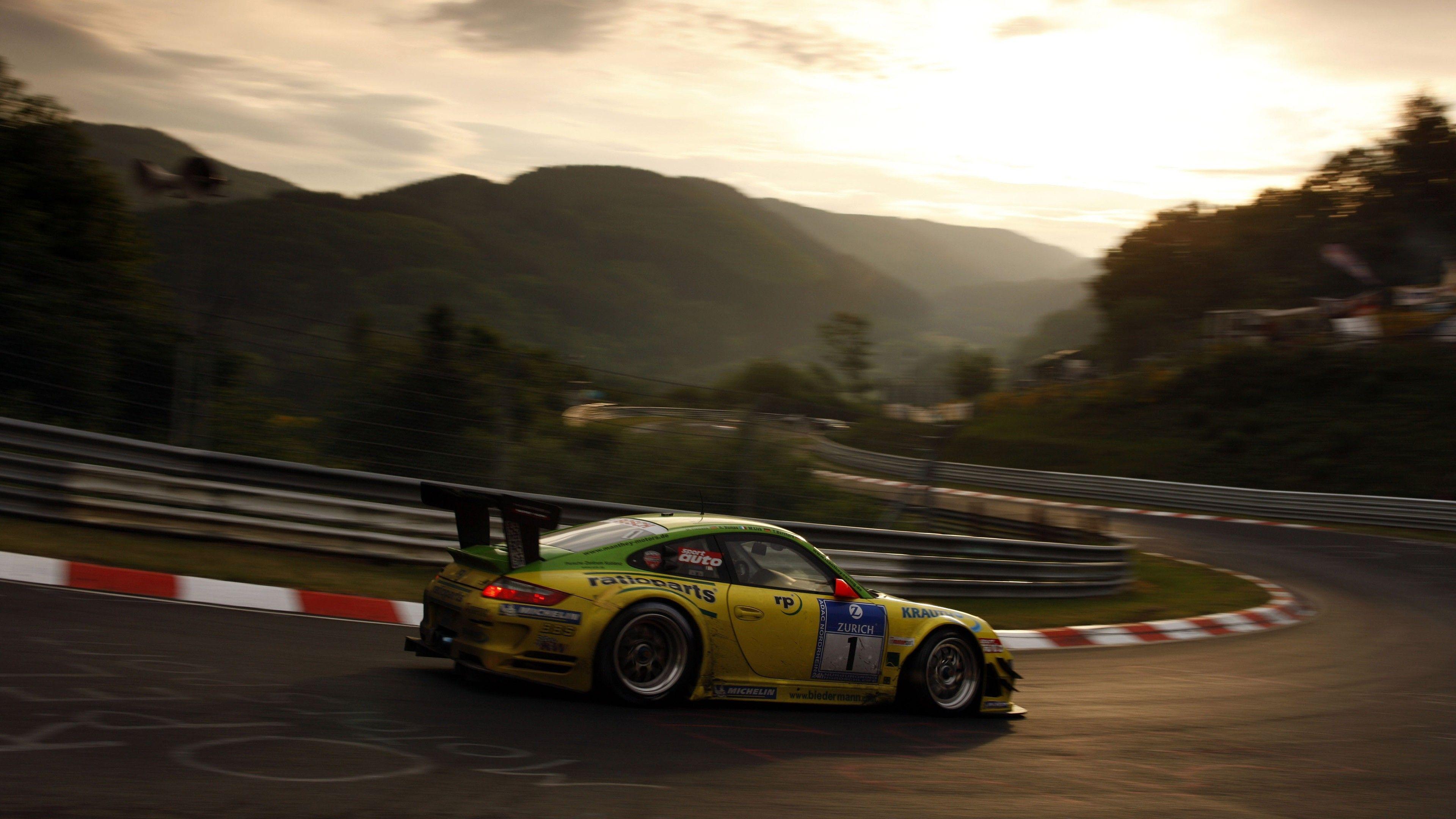Porsche Gtr On Track Porsche Wallpapers Hd Wallpapers Cars Wallpapers 5k Wallpapers 4k Wallpapers Porsche Gtr Car Wallpapers Yellow Car