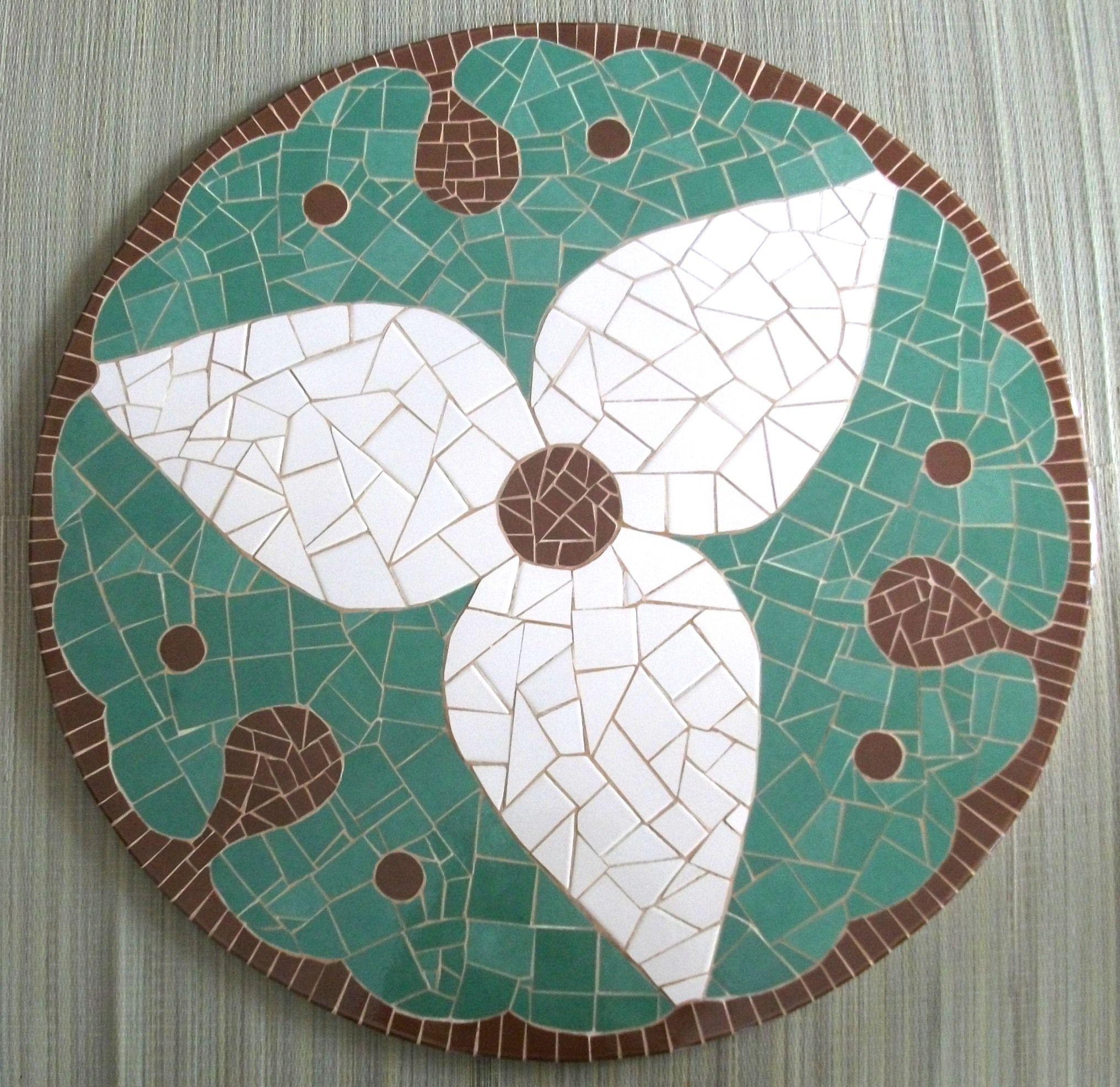 Tampo de mesa em mdf com mosaico em cer mica medindo for Mosaico ceramica