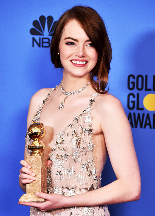 Emma Stone at The 74th Annual Golden Globe Awards (2017)