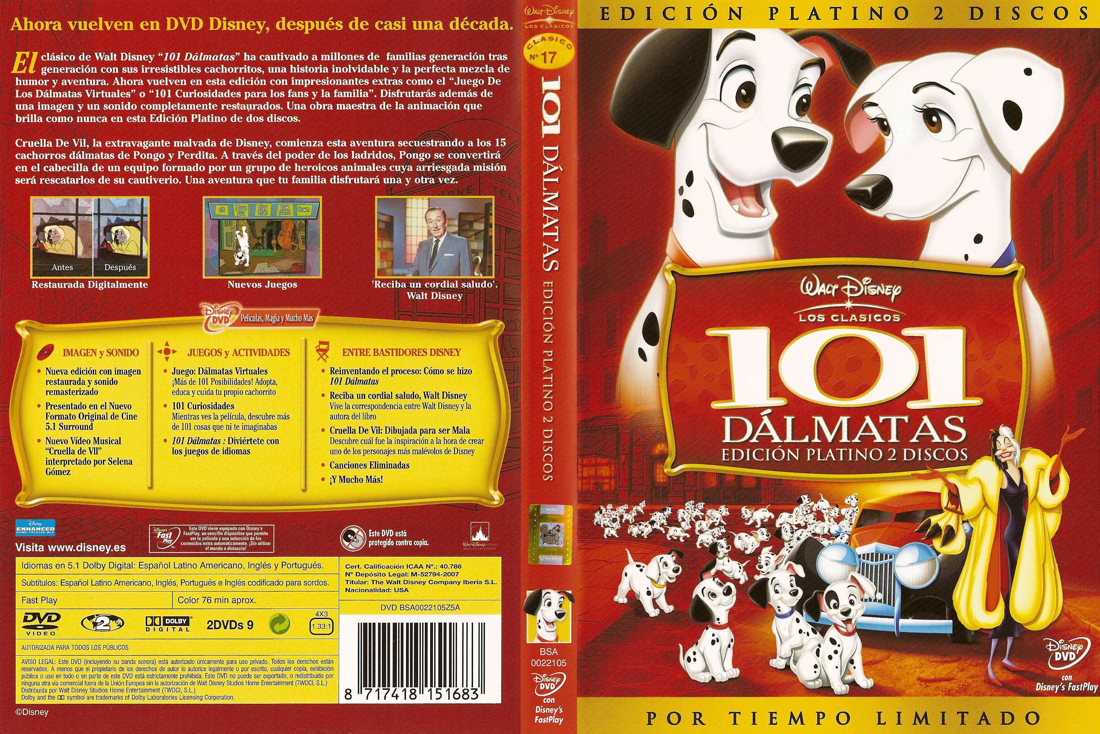 DVD - 101 Dálmatas - Clásico N° 17, Edición Platino