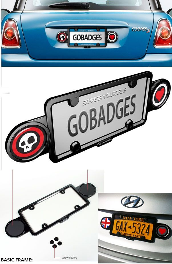 Double Badge Holder License Plate Frame Mini Cooper License