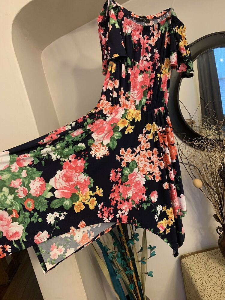 10bfce627ad6 NEW Pretty Floral Off The Shoulder Dress Size S  fashion  clothing  shoes   accessories  womensclothing  dresses (ebay link)