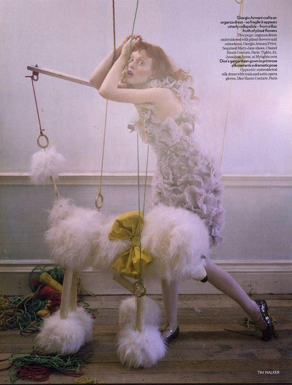 """Soldier, Soldier, Won't You Marry Me?"": Karen Elson by Tim Walker for Vogue UK"