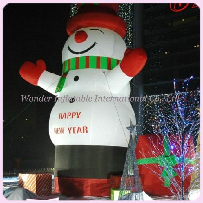 Outdoor 20ft giant christmas inflatable snowman for christmas - inflatable outdoor christmas decorations