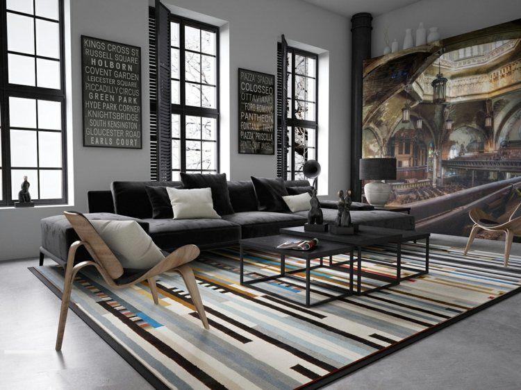 Sol Style Industriel. Cheap Salon Deco Industriel Salon Deco Loft ...