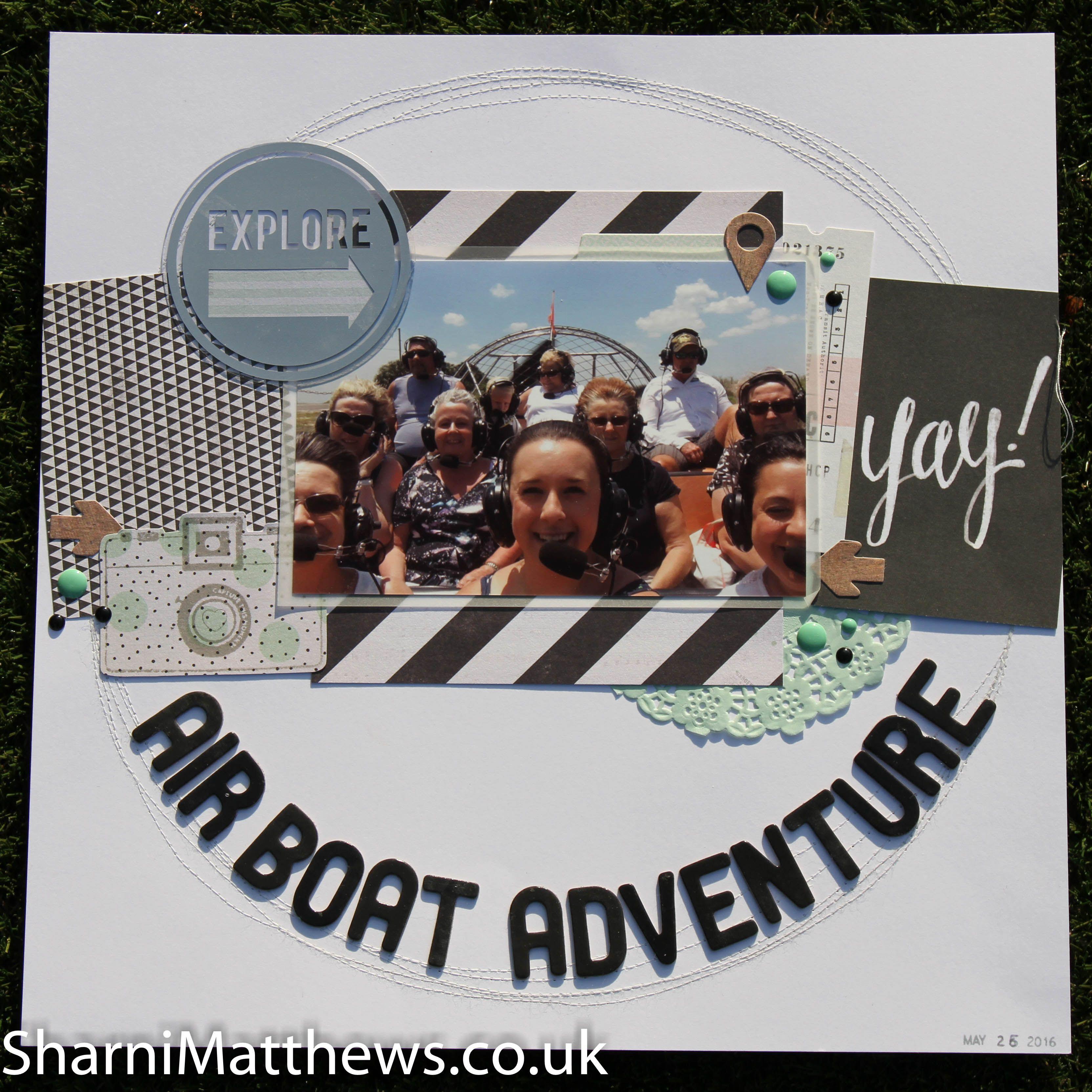 Scrapbook ideas adventure - 12 X 12 Scrapbook Layout Airboat Adventure America 2016