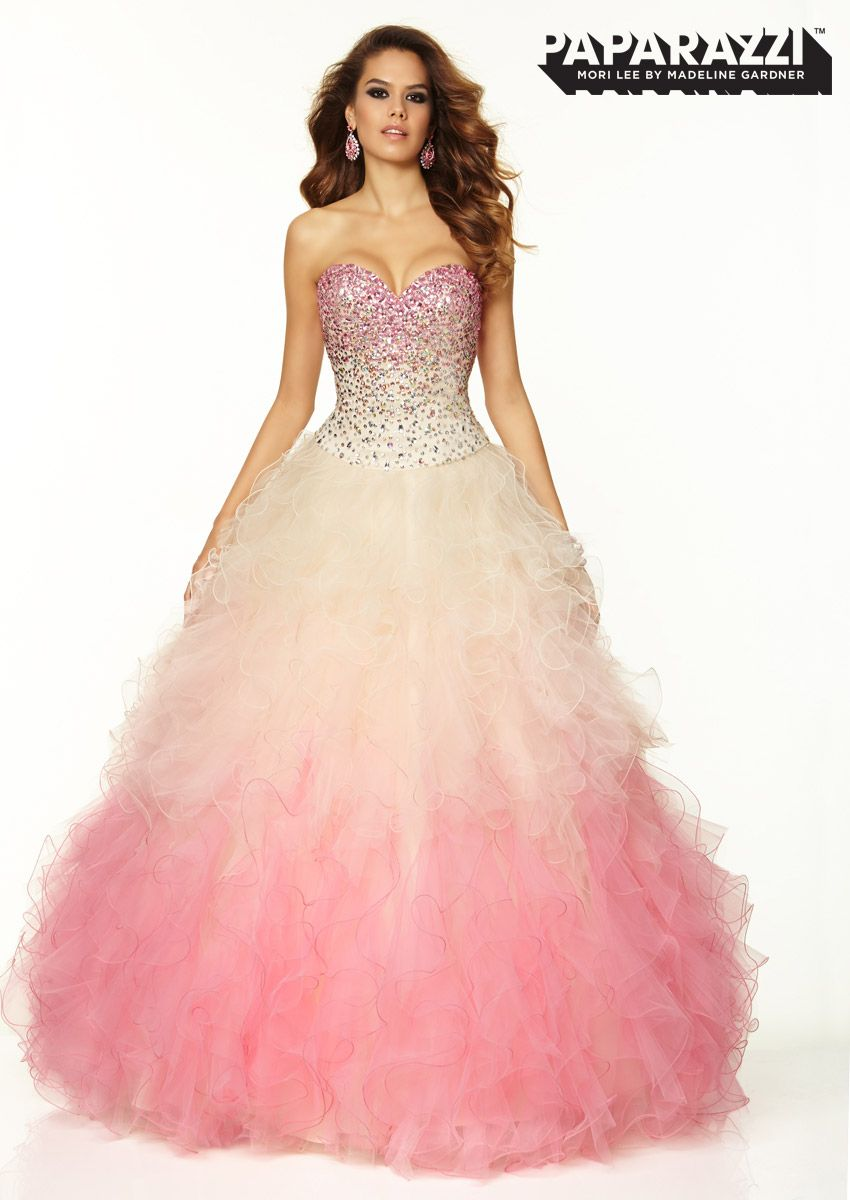 Prom Dresses – Paparazzi And Mori Lee Quincenera dress with ruffled ...
