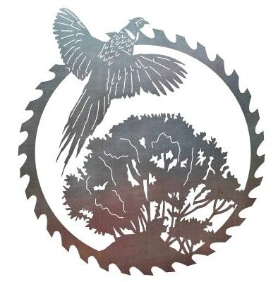 Saw Blade Amp Flying Pheasant Cut From Metal With Cnc