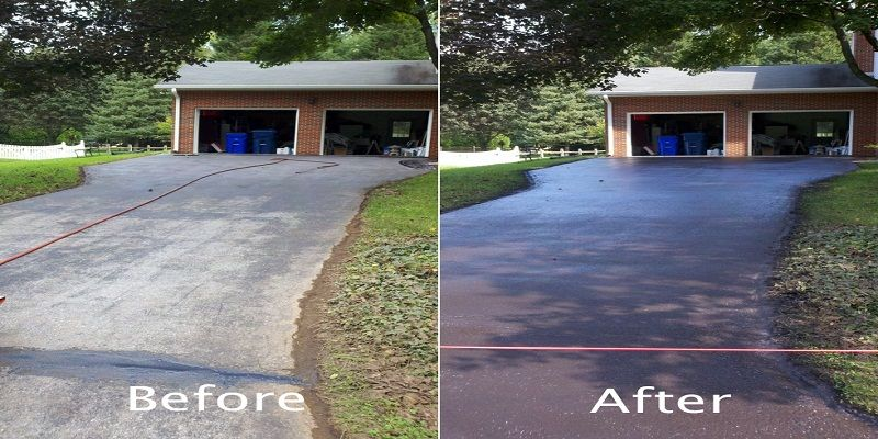 Driveway Sealer Work On A Surface Of Nine Square Meters 100 Square Feet At A Time Using A Sealant Brush B Driveway Sealer Concrete Driveways Home And Garden