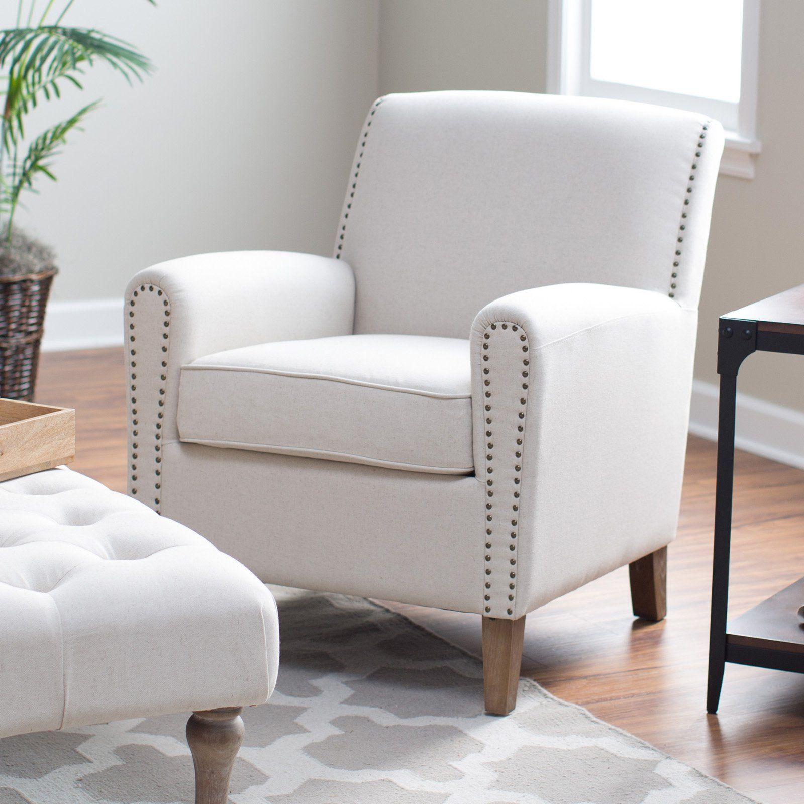Belham Living Nala Arm Chair With Nailheads   Accent Chairs At Hayneedle