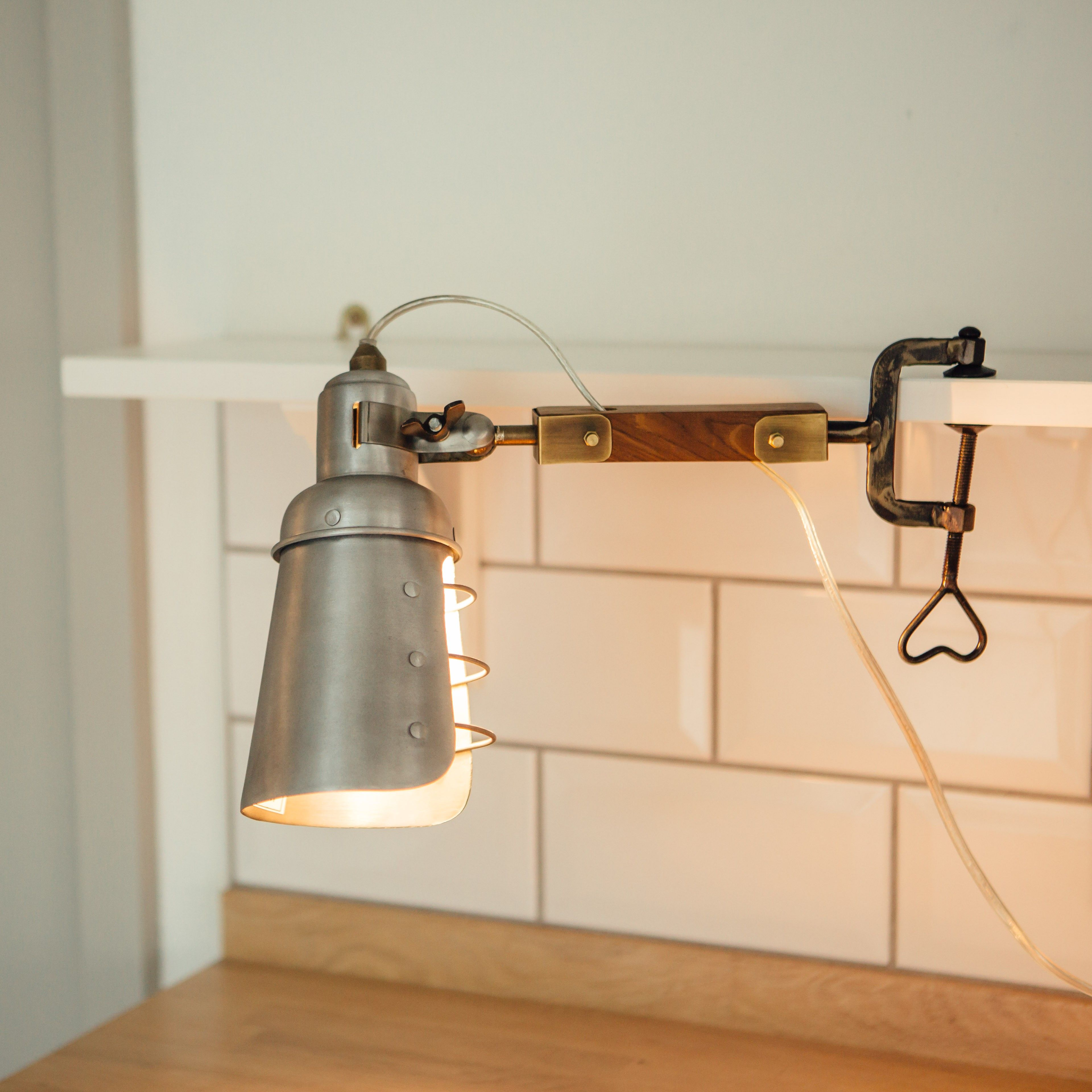 industrial style clip on light http www graceandgloryhome co uk