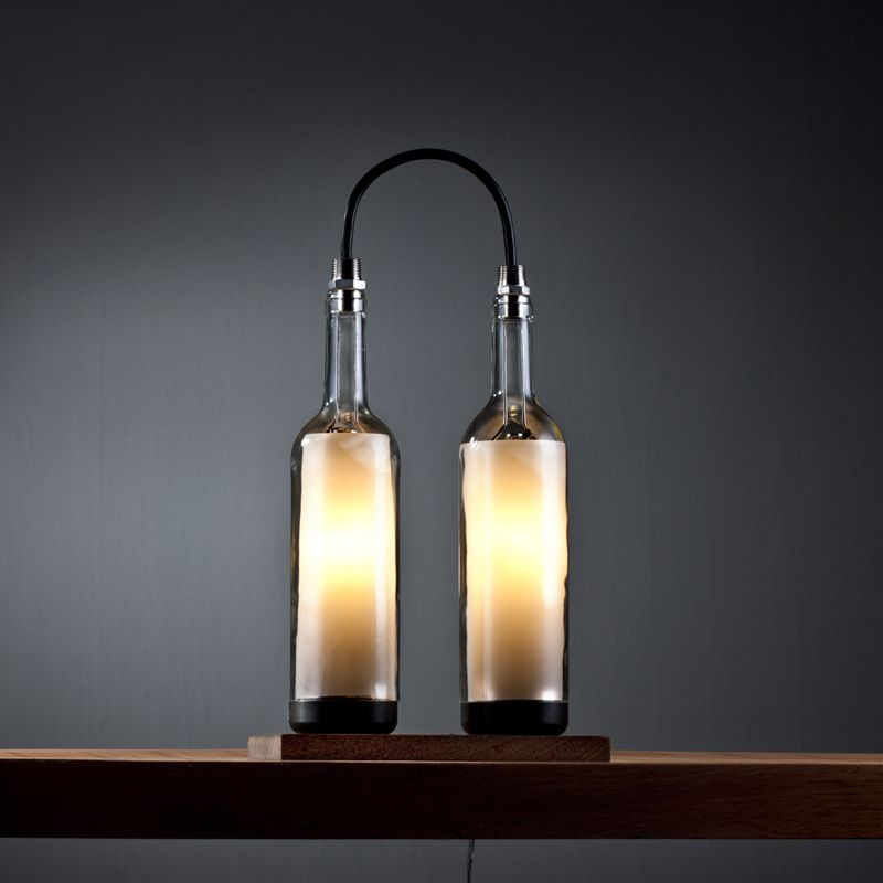 Upcycled Wine Bottle Lamp Series by John
