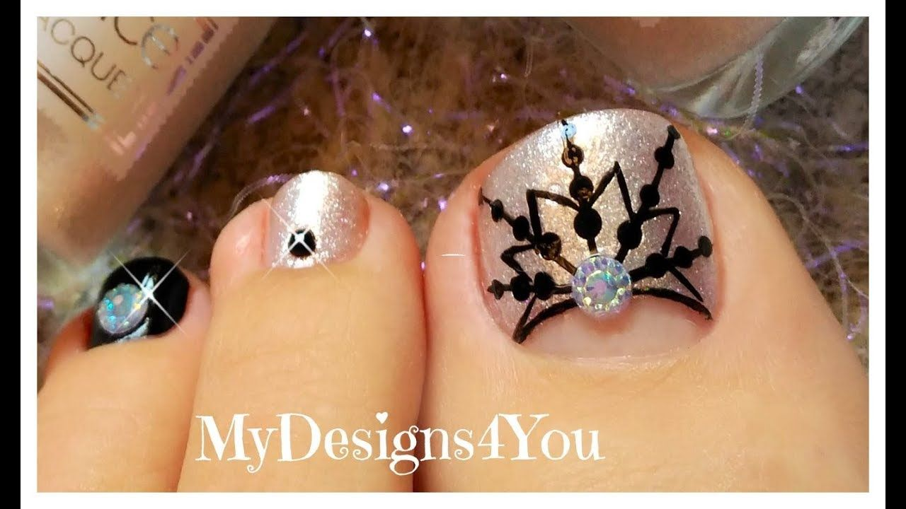 Winter Toe Nail Art | New Year\'s Snowflake Pedicure ♥ | Youtube ...