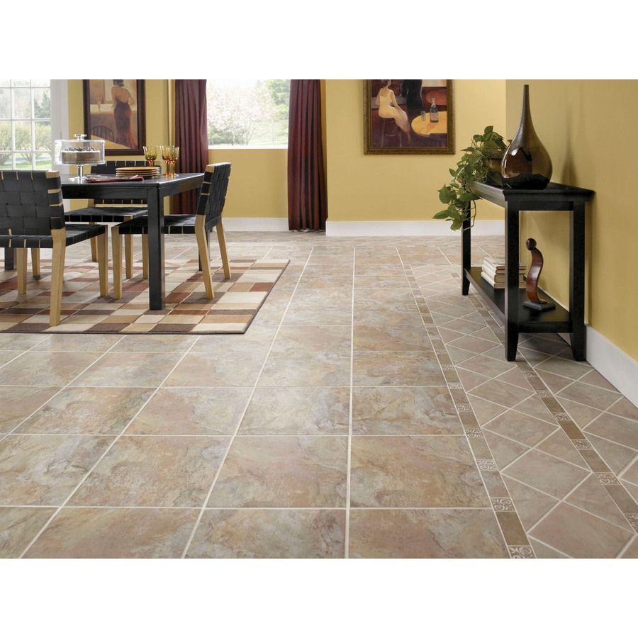 Style Selections 13 In W X 4 27 Ft L Sierra Slate Embossed Laminate