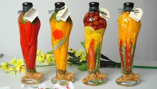 Decorative Vegetable Bottlesdecorativebottlea404040 Home Decor Best Decorative Bottles With Vegetables In Vinegar
