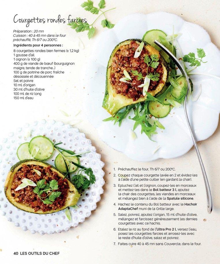 Courgettes rondes farcies | recettes | Courgette ronde ...