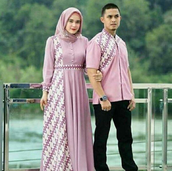 50 Trend Model Baju Batik Gamis Kombinasi Terbaru 2019