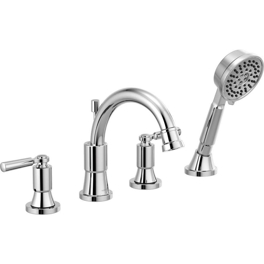 Peerless Westchester Chrome 2 Handle Deck Mount Roman Bathtub Faucet With Hand Shower At Lowes Com Roman Tub Faucets Tub Faucet Faucet