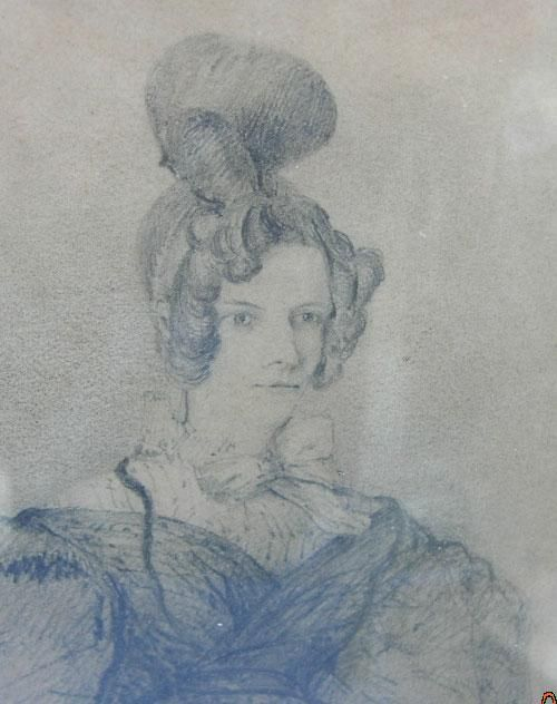 Mother and Daughter, Pair of Pencil Sketches, Georgian ...