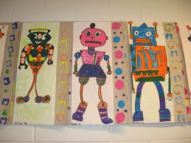 2nd Grade Da Vinci Invented Robots (With images) | Elementary art ...