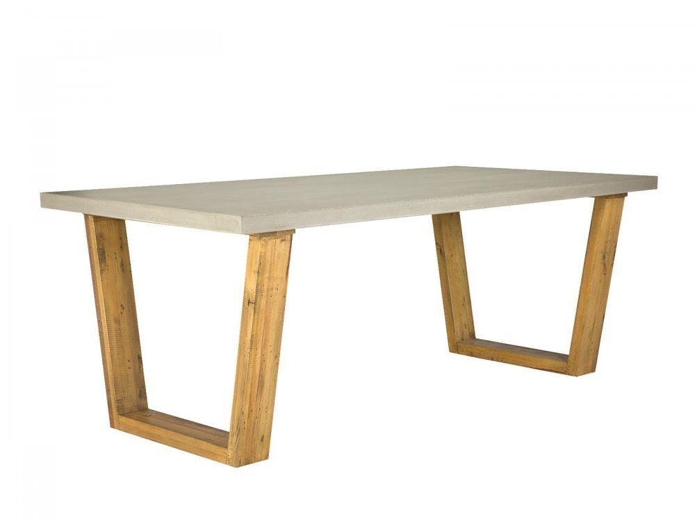 Esstisch 200x100 Beton Pinie massiv Holz Wohnmöbel Esszimmer Möbel