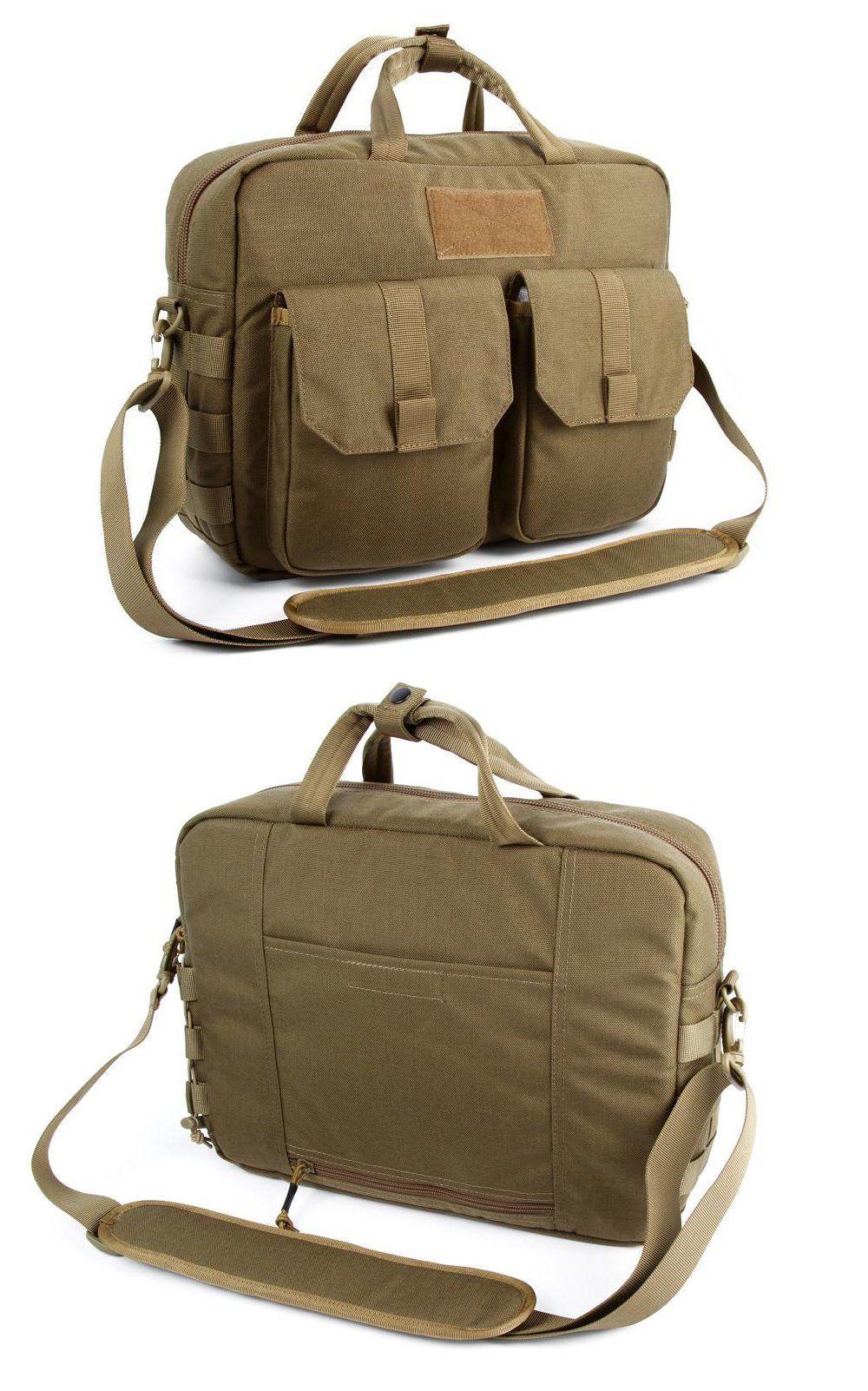 af698ccb73 Tactical MOLLE Single Shoulder Military Attache Case Briefcase Laptop Bag