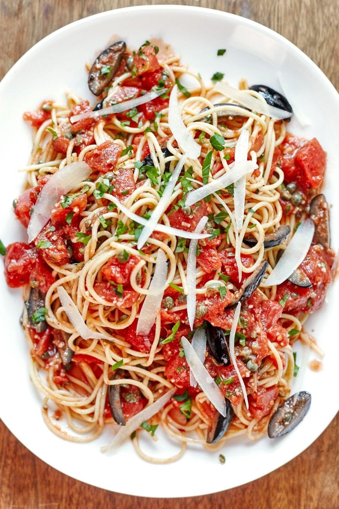 One Pot Pasta Puttanesca Recipe Pasta Puttanesca One Pot