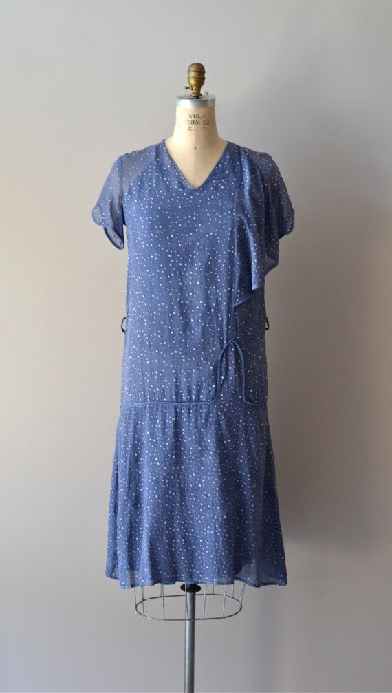 1920s dress / cotton 20s dress / Celestial Guide dress | Pinterest ...