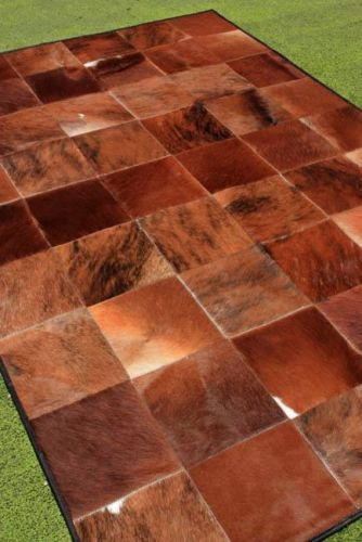 New Cowhide Rug Leather Cow Hide Animal Skin Patchwork Area Carpet Steer G89 Ebay