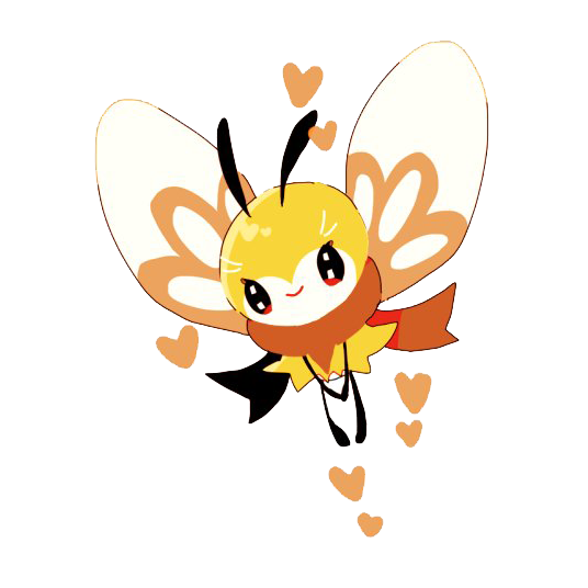 Ribombee Pokemon Png Cartoon Image Transparent Background