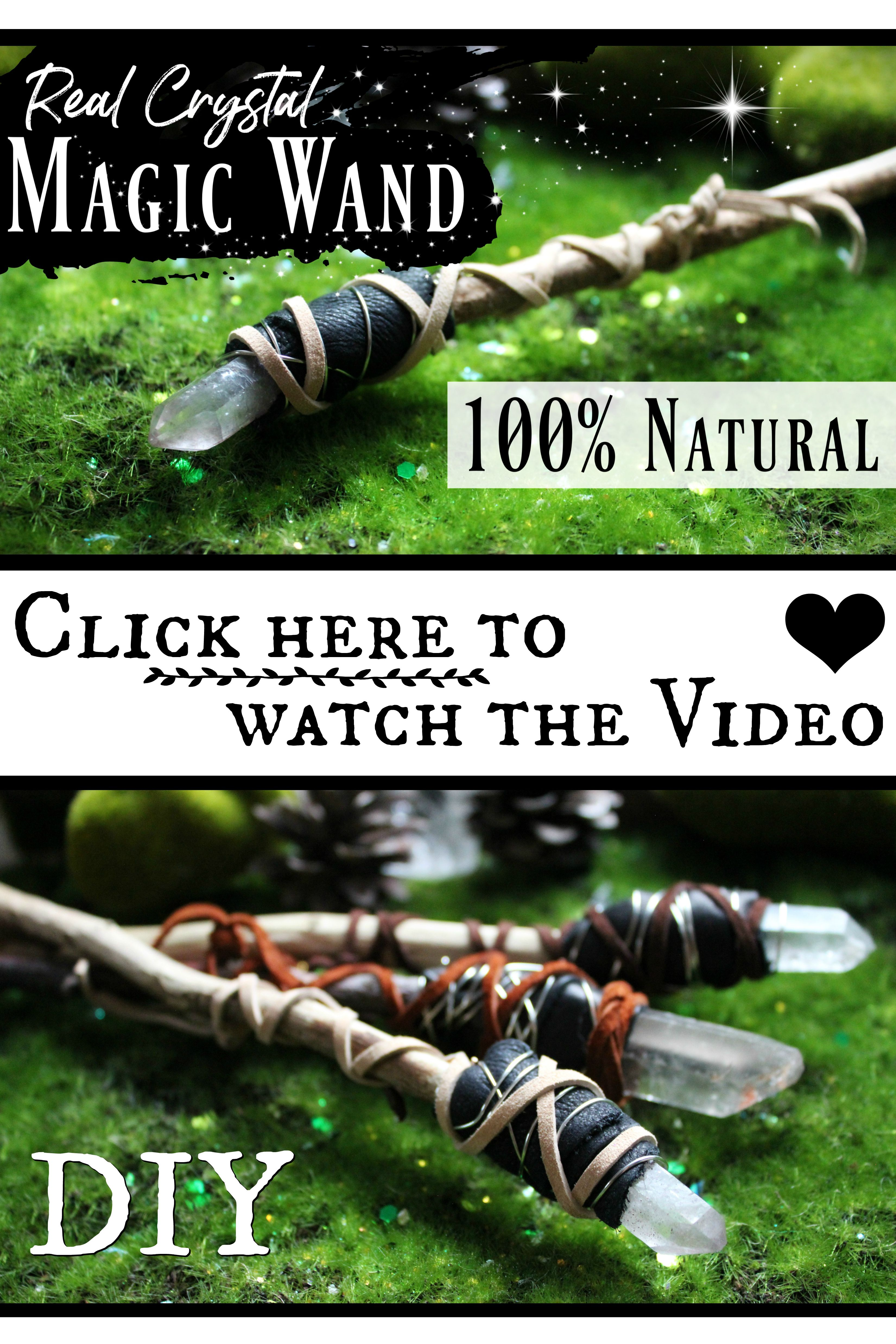 How to Make a Magic Crystal Wand ♥ Tutorial Video Linked!