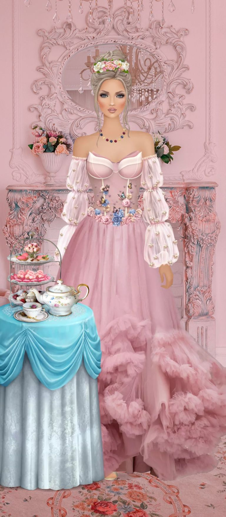 Pin By Felice Navidad On Royalty Queens Knights In 2021 Pink Dress Victorian Dress Pink [ 1758 x 768 Pixel ]