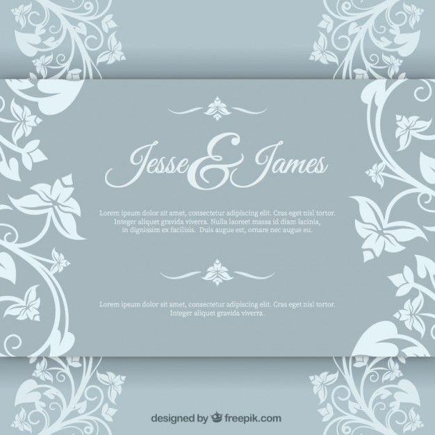 Baixe Convite De Casamento Elegante Gratuitamente Wedding