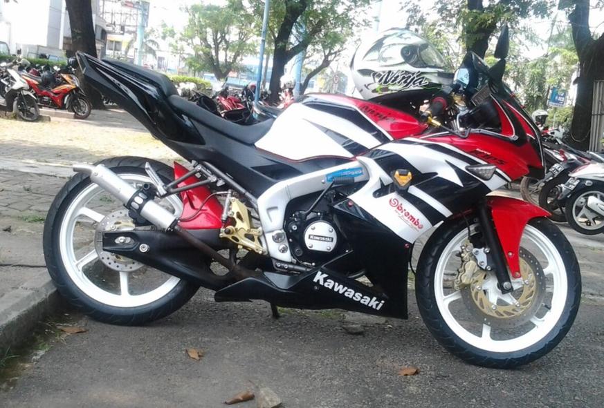New Ninja RR 2013 Full Modif Warna Merah Hitam Putih