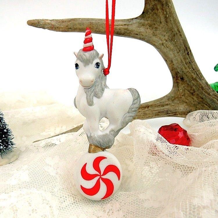 1988 Hallmark Keepsake Ornament Merry Mint Unicorn Artists