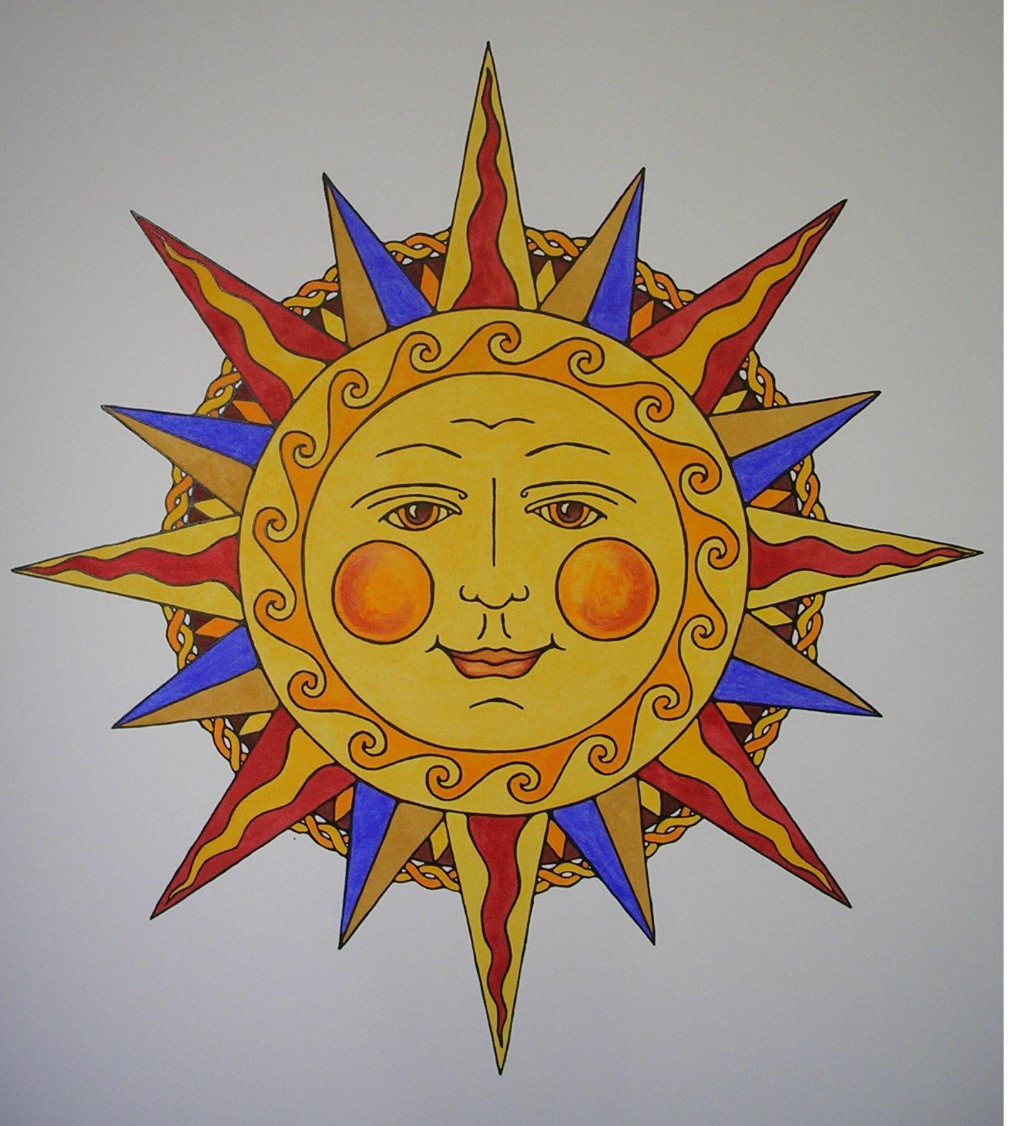 Genevieve Monks Keller: Sun Illustration | Sun Art | Pinterest ...