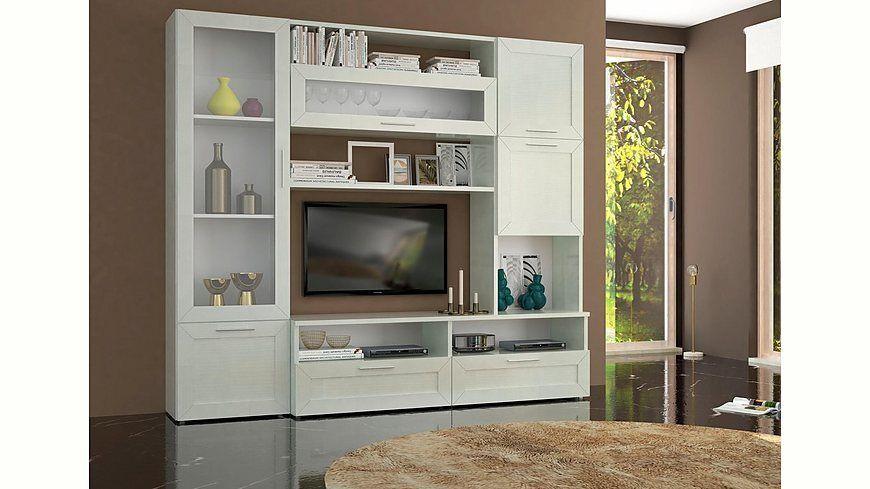 Tecnos Wohnwand (5-tlg) Elisabeth Jetzt bestellen unter   - Wohnzimmermöbel Weiß Landhaus