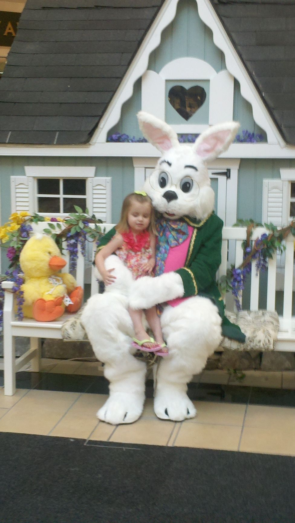 Easter bunny fun you werent scared either claire just so you