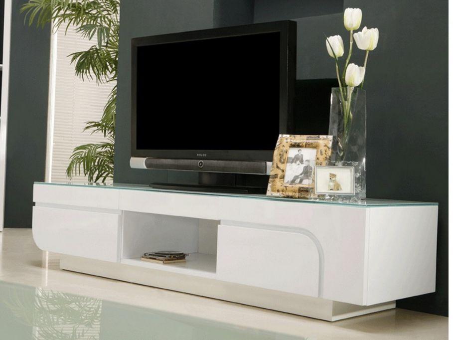 Meuble Tv Brady En Mdf Laque Blanc Meuble Tv Vente Unique Meuble Tv Meuble Meuble